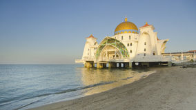 Malacca Straits Mosque (Masjid Selat Melaka) is a mosque located Stock Photography