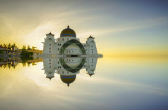 Malacca Straits Mosque ( Masjid Selat Melaka), It is a mosque located on the man-made Malacca Island near Malacca Town, Malaysia. Royalty Free Stock Image