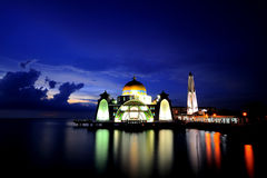 Malacca Straits Mosque (Masjid Selat Mosque) Stock Photo