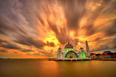 The Malacca Straits Mosque Stock Photos