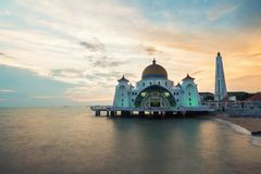 Malacca straits mosque Selat Melaka Mosque is a Mosque located Royalty Free Stock Photos