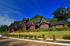 The Malacca Sultanate Palace Museum. (Malay: Muzium Istana Kesultanan Melaka) is a museum located in Malacca City, Malacca, Malaysia. The building is a modern royalty free stock photography