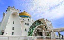 Malacca svårighetermoské Royaltyfri Fotografi