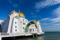 Malacca svårighetermoské Arkivfoto