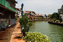 Malacca Water Way Stock Photo