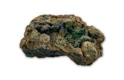 Malachiet en azurite mineralen Stock Fotografie