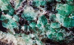 Malachit w łyszczyk grupie szkotowe krzemian kopaliny Naturalnego dekoracyjnego kamienia tekstury wzoru makro- widok obrazy stock
