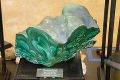 Malachite μετάλλευμα Στοκ Φωτογραφίες