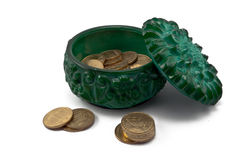 malachite ρωγμών κιβωτίων μικρό Στοκ φωτογραφία με δικαίωμα ελεύθερης χρήσης