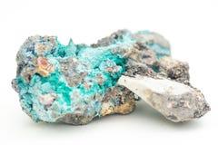 Malachite with azurite Royalty Free Stock Image