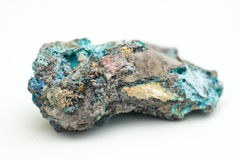 Malachite with azurite Royalty Free Stock Images