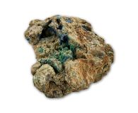 Malachite and azurite minerals Stock Photography