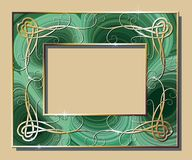 Malachite border Royalty Free Stock Image