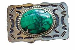 malachite för bältebuckla Royaltyfri Bild