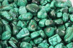 Malachite. Green geologic and mineral background stock images