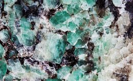 Free Malachite In Mica Group Of Sheet Silicate Minerals. Natural Decorative Stone Texture Pattern Macro View. Royalty Free Stock Image - 104353236