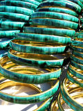 Malachite jewellery. Portrait photo of Malachite bangles stock photos