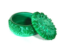 Malachite jewelry box Royalty Free Stock Photos
