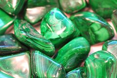 Malachite mineral texture. As very nice background stock photo