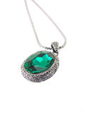 Malachite pendant Royalty Free Stock Photo