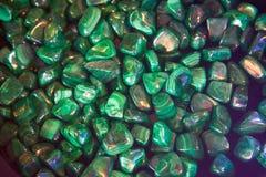 Malachite polished stones background Stock Image