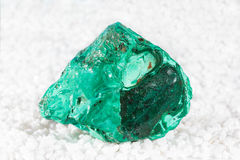 Malachite specimen with drusy microcrystals Stock Images