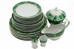 A Malachite Tableware Service Royalty Free Stock Photography