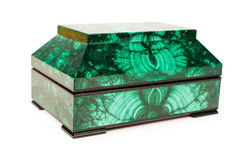 Malachite treasure-box Stock Image