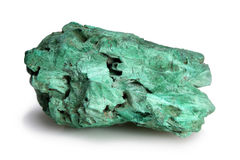 Malachite on white Stock Photography