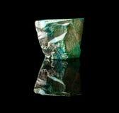 malachitowy szorstki kamień Zdjęcia Royalty Free