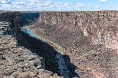 Malad River Gorge. The dramatic Malad River Gorge in south central Idaho Royalty Free Stock Images