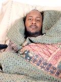 Malade d'homme Photographie stock libre de droits