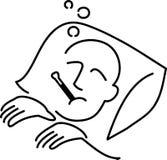 malade d'homme de dessin animé Photographie stock