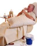 Malade et prenant Meds Photographie stock