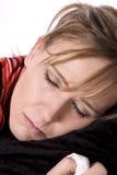 Malade somnolente de dame Photos libres de droits