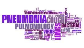 Maladie de pneumonie illustration stock