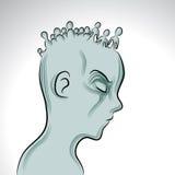 Maladie mentale illustration de vecteur
