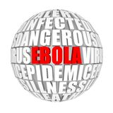 Maladie virale de virus Ebola illustration stock