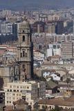 Malaga à la vue de ville Photos stock