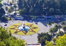 malaga Испания квадрат Стоковое Изображение