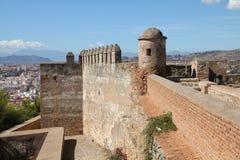 Malaga. In Andalusia, Spain. Alcazaba castle on Gibralfaro mountain - old religious landmark Stock Photography