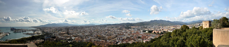 Malaga. Panoramic view of Malaga in Spain Stock Photography