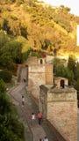 Malaga ALCAZABA arab Andalusia Obrazy Royalty Free
