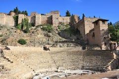 Malaga amphitheatre Stock Images