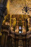 MALAGA, ANDALUCIA/SPAIN - JULY 5 : Interior View of the Cathedra Stock Photography