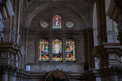 MALAGA, ANDALUCIA/SPAIN - JULY 5 : Interior View of the Cathedra Stock Photos