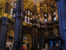 MALAGA, ANDALUCIA/SPAIN - JULY 5 : Interior View of the Cathedra Stock Photo