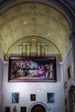 MALAGA, ANDALUCIA/SPAIN - LIPIEC 5: Wewnętrzny widok Cathedra zdjęcia stock