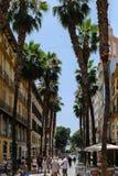 MALAGA, ANDALUCIA/SPAIN - 5 LUGLIO: Vista del centro urbano del Mal Fotografia Stock Libera da Diritti