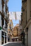 MALAGA, ANDALUCIA/SPAIN - 5 LUGLIO: Vista del centro urbano del Mal Fotografie Stock Libere da Diritti